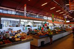 Indoor makret stalls, Olhao. royalty free stock photography