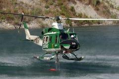 Pożarniczy helikopter Obrazy Stock