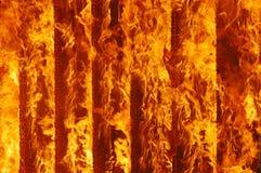 Pożarniczy oparzenie Zdjęcia Stock