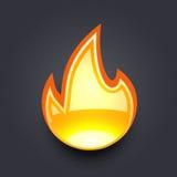Pożarniczy płomień Zdjęcia Stock