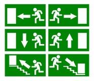 pożarniczy wyjście ewakuacyjne znaki Obrazy Stock