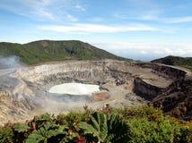 Poas国家公园火山哥斯达黎加 免版税库存照片