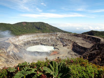 Poas nationalpark Volcano Costa Rica royaltyfri foto