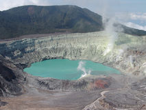 Poas Volcano. Crater of poas volcano in Costa Rica royalty free stock photography