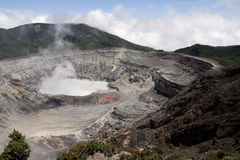 Poas volcano in Costa Rica. The crater of poas volcano seen on a clear day Royalty Free Stock Photo