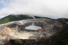 Poas Volcano Costa Rica. The crater of Poas Volcano in Costa Rica Royalty Free Stock Image