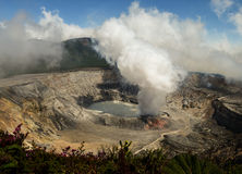 Poas Volcano in Costa Rica Stock Image