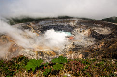 Poas Volcano - Costa Rica. Huge crater of the Poas Volcano, Costa Rica Royalty Free Stock Photo