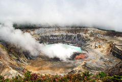 Poas Volcano - Costa Rica. Huge crater of the Poas Volcano, Costa Rica Royalty Free Stock Photos