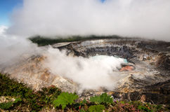 Poas Volcano - Costa Rica. Huge crater of the Poas Volcano, Costa Rica Stock Image