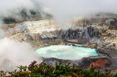 Poas Volcano - Costa Rica. Huge crater of the Poas Volcano, Costa Rica Royalty Free Stock Images