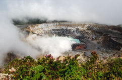Poas Volcano - Costa Rica. Huge crater of the Poas Volcano, Costa Rica Royalty Free Stock Image