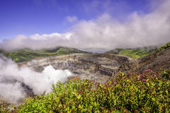 Poas Volcano Costa Rica Stock Images