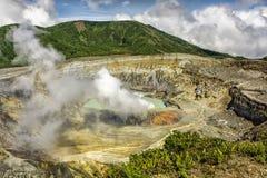 Poas Volcano Crater Stockfotos