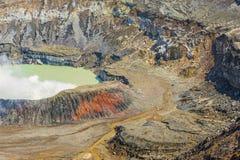 Poas Volcano Crater Lizenzfreies Stockfoto