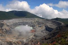 Poas Volcano Crater Stock Photography