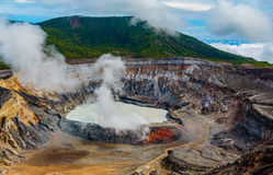 Poas Vulkan, Costa Rica Stockfotografie