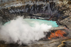 Poas wulkan - Costa Rica Zdjęcia Royalty Free