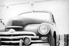 Pobeda. Retro, car, imagery, 1940-1980, revival, retro-styled, culture, old, old-fashioned, style, usa, land, american, street, chrome, transportation, antique Royalty Free Stock Photo
