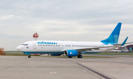 Pobeda Airlines Boeing 737 Royalty Free Stock Photography