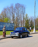 Pobeda car in Moscow Royalty Free Stock Photography