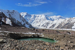 Kyrgyzstan - Pobeda Peak (Jengish Chokusu ) 7,439 m Stock Photos