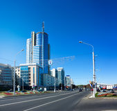Pobediteley Avenue in Minsk, Belarus Royalty Free Stock Image