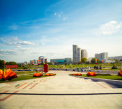 Pobediteley Avenue in Minsk, Belarus Stock Photo