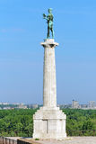 The Pobednik (The Victor) monument in Belgrade, Serbia Stock Image