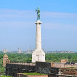 The Pobednik (The Victor) monument in Belgrade, Serbia Royalty Free Stock Photos