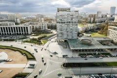 从Pobedy广场的合奏的高度的看法我 库存照片