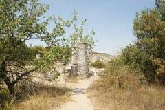 Pobiti Kamani η πέτρινη έρημος, ένα έρημος-όπως φαινόμενο βράχου Στοκ φωτογραφία με δικαίωμα ελεύθερης χρήσης