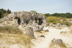 Pobiti Kamani η πέτρινη έρημος, ένα έρημος-όπως φαινόμενο βράχου Στοκ Φωτογραφίες