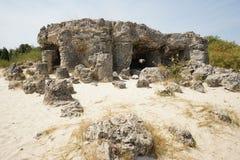 Pobiti Kamani η πέτρινη έρημος, ένα έρημος-όπως φαινόμενο βράχου Στοκ Εικόνα