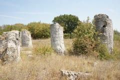 Pobiti Kamani η πέτρινη έρημος, ένα έρημος-όπως φαινόμενο βράχου που βρίσκεται στη Βουλγαρία Στοκ φωτογραφίες με δικαίωμα ελεύθερης χρήσης