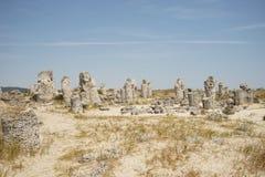 Pobiti Kamani η πέτρινη έρημος, ένα έρημος-όπως φαινόμενο βράχου που βρίσκεται στη Βουλγαρία Στοκ εικόνα με δικαίωμα ελεύθερης χρήσης