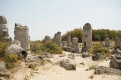 Pobiti Kamani η πέτρινη έρημος, ένα έρημος-όπως φαινόμενο βράχου που βρίσκεται στη Βουλγαρία Στοκ Εικόνα