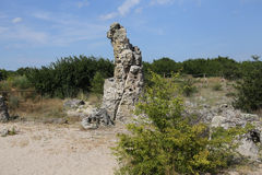Pobiti Kamani η πέτρινη έρημος Στοκ Φωτογραφίες