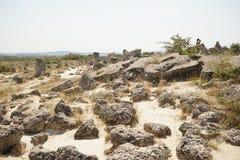 Pobiti Kamani le désert en pierre, un phénomène comme un désert de roche photo libre de droits