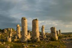 Pobiti kamani. Phenomenon rock formations in Bulgaria near Varna Royalty Free Stock Photo