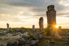 Pobiti kamani. Phenomenon rock formations in Bulgaria near Varna Royalty Free Stock Photography