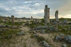 Pobiti kamani. Phenomenon rock formations in Bulgaria near Varna Royalty Free Stock Photos