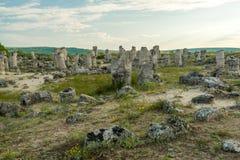 Pobiti kamani. Phenomenon rock formations in Bulgaria near Varna Stock Photos
