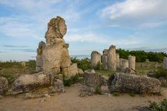 Pobiti kamani. Phenomenon rock formations in Bulgaria near Varna Royalty Free Stock Image