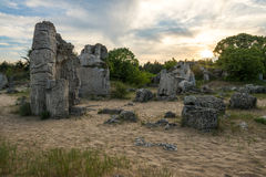 Pobiti kamani. Phenomenon rock formations in Bulgaria near Varna stock photography