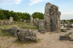 Pobiti kamani. Phenomenon rock formations in Bulgaria near Varna Stock Photography