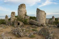 Pobiti kamani. Phenomenon rock formations in Bulgaria near Varna Royalty Free Stock Images