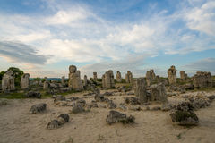 Pobiti kamani. Phenomenon rock formations in Bulgaria near Varna stock images