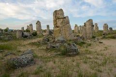 Pobiti kamani. Phenomenon rock formations in Bulgaria near Varna Stock Image
