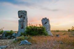 Pobiti kamani - phenomenon rock formations in Bulgaria near Varna Royalty Free Stock Photos